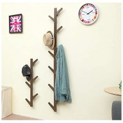 Yliquor Sturdy Coat Rack Stand Wall Mount Coat Hanger Tree Branch Coat and Hat Stand with 6-Hook for Clothes, Suits, Accessories, Ship from USA