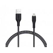 Cablu de date Aukey CB-AL1B, pentru Apple, 1.2 m (Negru)