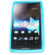 Силиконов гръб ТПУ за Sony Xperia miro ST23i Син
