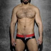 Addicted Fetish Rubber Brief Underwear Red ADF48