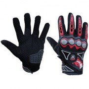 Kobo Probiker Imported Mesh Fabric Fire Roller Motorcycle Gloves (Black Large)
