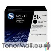 Комплект тонер касети HP Q7551XD (Black)