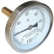 """Hõmérõ fémházas 63 0-120°C 1/2"""" L= 200mm"""