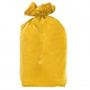 Sacs poubelle JAUNE 110 litres - pack de 100 unit