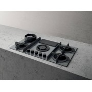 Elica NIKOLATESLA FLAME GR/A/88 Flame Gas Extractor Hob Grey - Duct Out