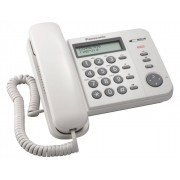 Telefon Analogic cu Fir Panasonic KX-TS560FXW Display LCD Caller ID Alb
