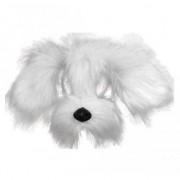 Merkloos Witte hond masker met vacht