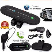 Fleejost Portable Multipoint Wireless Bluetooth Hands-Free Speakerphone Car Bluetooth Kit With Hands-Free Sun Visor Magn