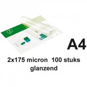GBC A4 lamineerhoezen glanzend 2x175 micron 100 stuks