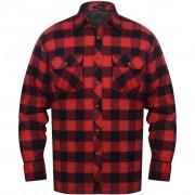vidaXL Bélelt kockás férfi ing méret XXXL piros-fekete
