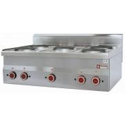 Diamond Cuisinière Electrique INOX 2 kw 5 Plaques de Table 400V 180 mm