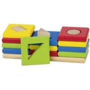 Sortare culori și forme, să învețe să numere, 3 turnuri, 12 elemente (58647)