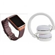 Mirza DZ09 Smart Watch and SH 10 Bluetooth Headphone for LG OPTIMUS G (DZ09 Smart Watch With 4G Sim Card Memory Card| SH 10 Bluetooth Headphone)