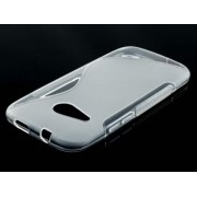 Wave Case for HTC One mini 2 - HTC Soft Cover (Frosted Clear/Clear)