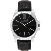 Laurels Opus Analog Black Dial Mens Watch - Lo-OM-0202