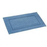 Rhomtuft Badteppich Grace, 60 x 90 cm, Badematte, 100% Baumwolle, Aqua Blau