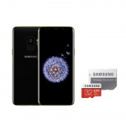 Samsung Galaxy S9 G960FD Dual Sim 4G 64GB with 32GB Micro SDHC Memory Card with SD Adapter - Midnight Black