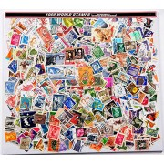 COMBO ~ 1000 World Stamps (All Different) + STAMP ALBUM 4 LEAF 8 PAGE ~ GOOD FOR COLLECTION