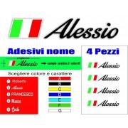 Adesivi per Bicicletta Mtb nome e cognome bandiera italiana