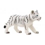 Mojo Fun 387014 White Tiger Cub Standing - Realistic International Wildlife Toy Replica