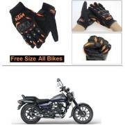 AutoStark Gloves KTM Bike Riding Gloves Orange and Black Riding Gloves Free Size For Bajaj Avenger