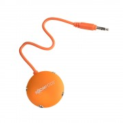 Adaptor Boompods Multipod Audio Splitter Orange (4 x 3.5mm sockets)