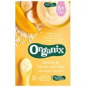 Organix cereale ecologice orez, porumb, banane si mango cu adaos de vitamina B1, 6 luni+, 120 g