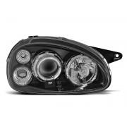 Přední světla, lampy Angel Eyes Opel Corsa B, Combo B 93-00 černá H1
