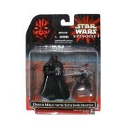 Star Wars Episode 1 Darth Maul with Sith Infiltrator Tropy Series Figure