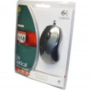Mouse USB Logitech Óptico V100 Para Notebooks 910-000512 Con Zoom Y 3 Botones-Gris