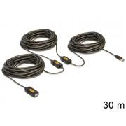 DeLock USB2.0 aktív hosszabbító kábel 30m 83453