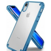 Protectie Spate Ringke Fusion 8809628566286 pentru iPhone Xr (Transparent/Albastru)