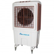 Racitor de aer mobil comercial si industrial ECO FRESH AIR EC5000, Pentru Interior si Exterior, Ventilatie, Racire, 5000 mc/h, Oscilatie automata, Rezervor 55 l sau conectare la retea