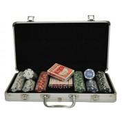 Maletín juego de poker 300 fichas 11.5g