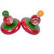 Desi Karigar 2 Classic Windup Spinning Tops Chakar Tops Traditional Games Impulse Kids Toys Great Fun Magic Tops Handcra