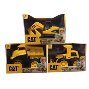 Cat Tough Tracks Toy Construction Set (Excavator, Front End Loader, Dump Truck)