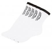Styx 5PACK ponožky Styx vysoké bílé s černým nápisem (H26161616161) M