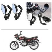 AutoStark 7/8 22cm Motorcycle Rear View Mirrors Handlebar Bar End Mirrors - Bajaj Discover 125 DTS-i