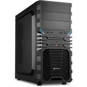 Sharkoon VG4-S Midi-Toren Zwart computerbehuizing