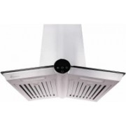 Pureflames Aleva 60 Wall Mounted Chimney with Baffle Filter for 3-4 Burners Wall Mounted Chimney(Silver 1100 CMH)