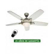 CasaFan Ventilador De Techo Con Luz Casafan 9513270 Mercury 132 Plateado / Nuez