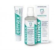 Elmex Sensitive dental solution/mouthwash with Amine Fluoride, 400 ml & Elmex Sensitive Toothpaste (2 Pack)