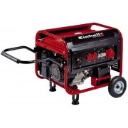 Generator curent electric cu roti Einhell TC-PG 5500 WD, 5500 W, benzina, rezervor 25 l, pornire electrica