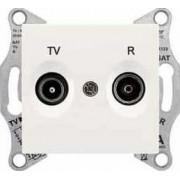 SEDNA TV-R aljzat átmenő 4 db IP20 Krém SDN3301823 - Schneider Electric