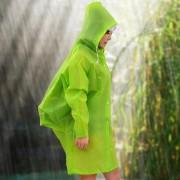 Louiwill Unisex Translúcida Impermeable, Respetuoso Del Medio Ambiente EVA Moda Ligera Lluvia Del Impermeable Del Poncho Del Cabo Con El Morral Posición, Verde
