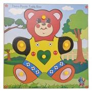 Skillofun Wooden Theme Puzzle Standard Teddy Bear Knobs, Multi Color