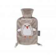 Merkloos Kruik met pluche hoes pinguin opdruk 0,8 liter