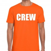 Bellatio Decorations Crew t-shirt oranje voor heren
