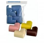 Bumpers Seguridad Bebés Protector Esquinas Mesas Muebles-Beige
