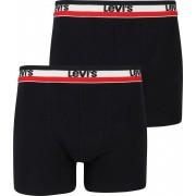Levi's Boxershorts 2-Pack Schwarz - Schwarz Größe M